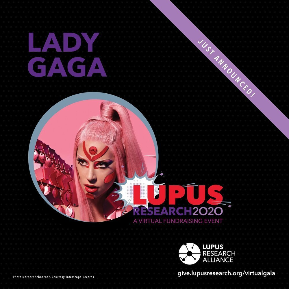 Lady GAGA - lupus research alliance poster